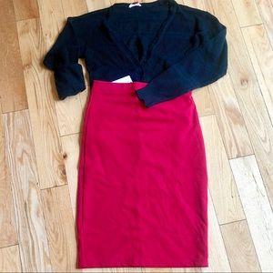 H&L Red Pencil Skirt (NWT)
